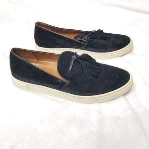 Frye 8M Black Gemma Tassel Sip On Shoe
